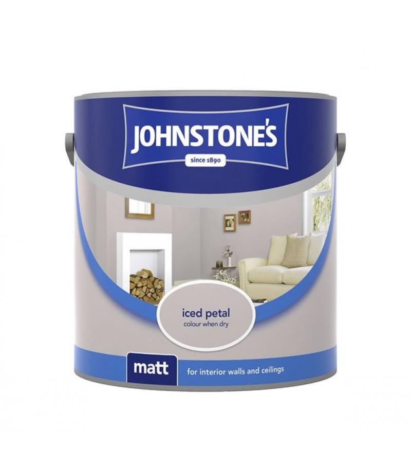 Johnstones Vinyl Emulsion Paint 5L Iced Petal (Matt)