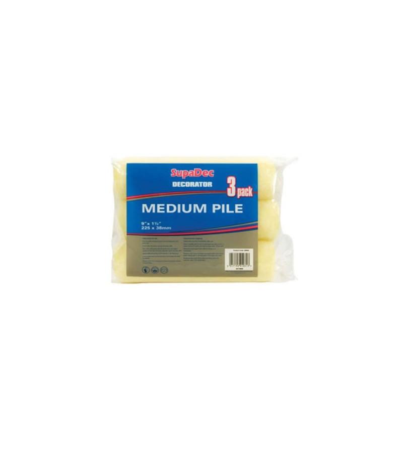"Supadec 9"" Medium Pile Roller Refills (3 Pack)"