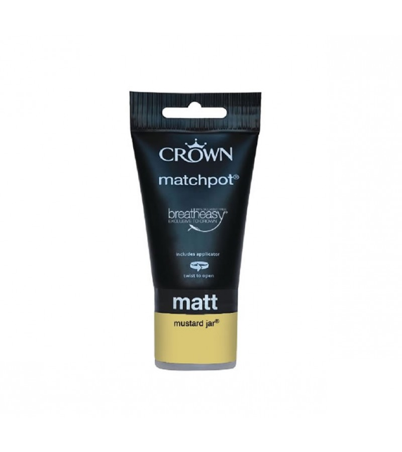 Crown Emulsion Paint Tester Pot 40ml Mustard Jar (Matt)