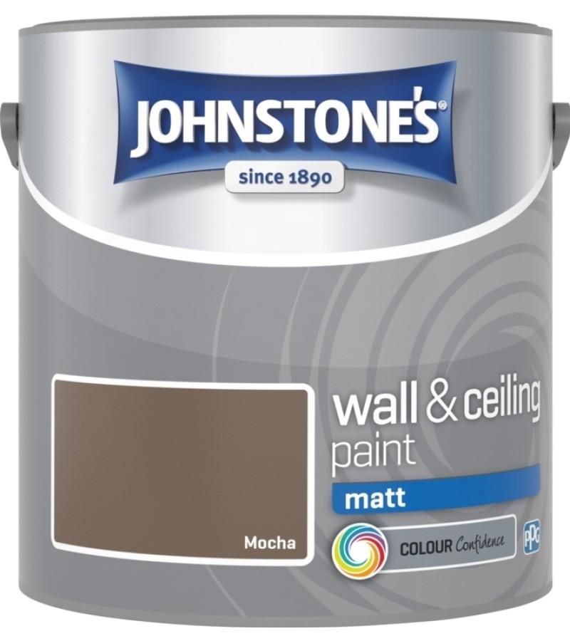 Johnstones Vinyl Emulsion Paint 2.5L Mocha (Matt)