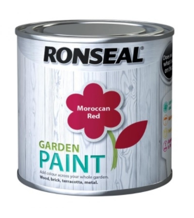 Ronseal Garden Paint 750ml Moroccan Red