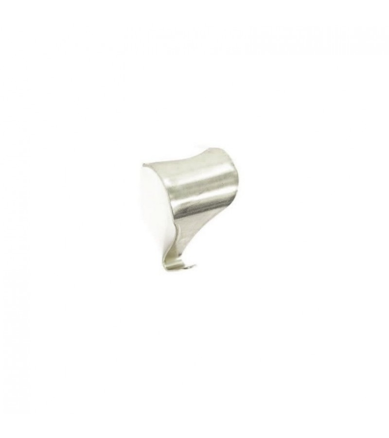 Securit S6220 Moulding Hooks Nickel Plated 50mm (2 Pack)