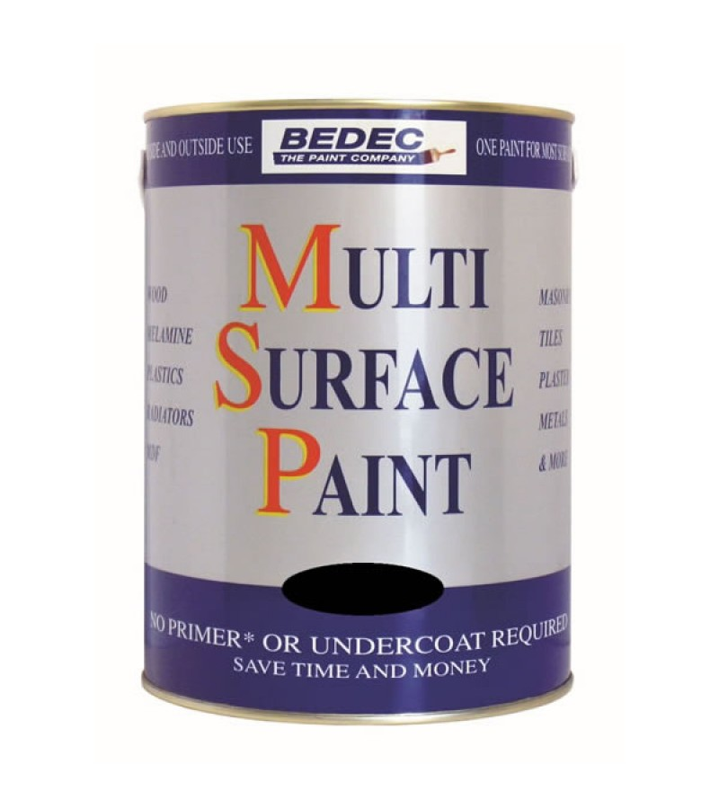 Bedec Multi Surface Paint 250ml Silver Satin