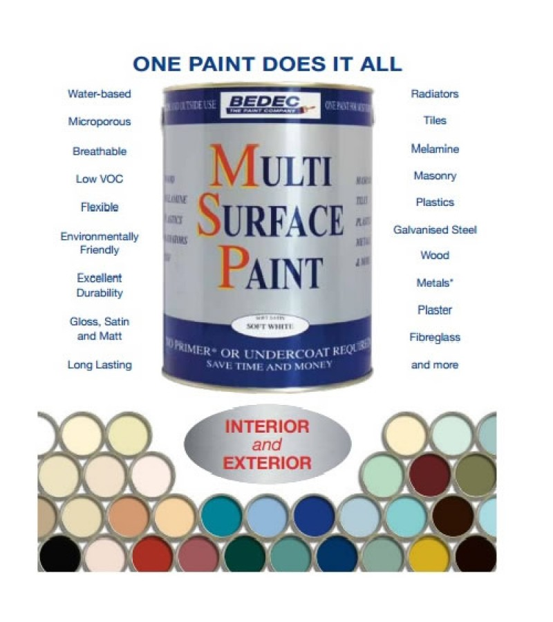 Bedec Multi Surface Paint 750ml Black Matt