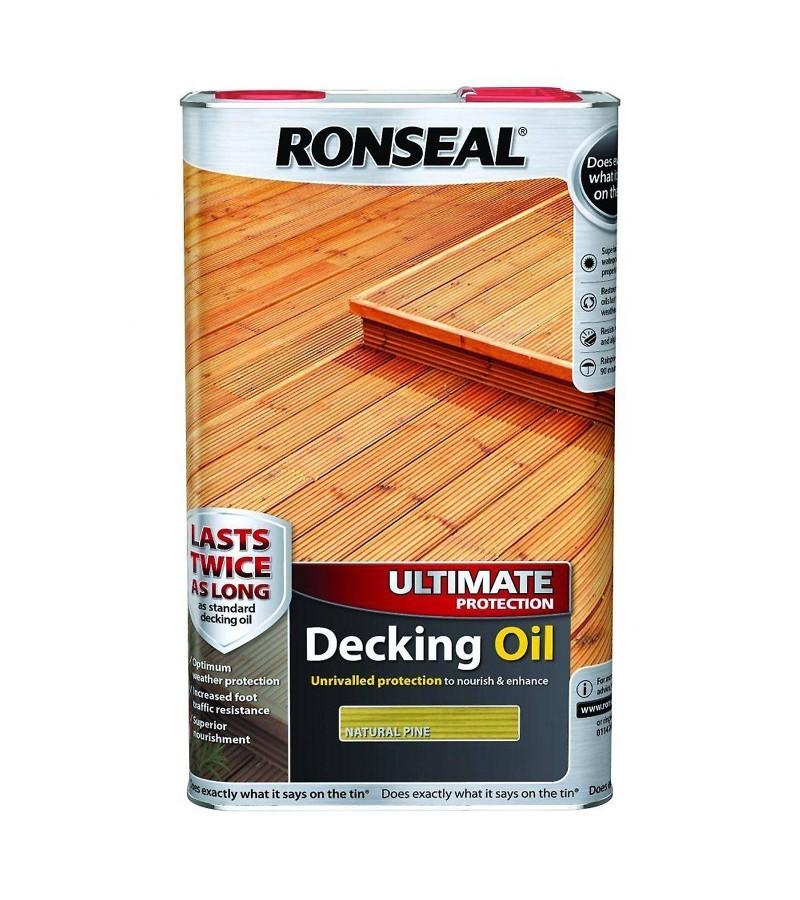 Ronseal Ultimate Decking Oil 5L Natural Pine