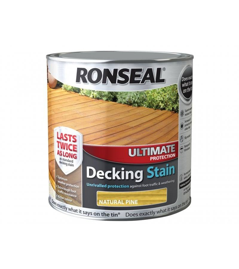 Ronseal Ultimate Protection Decking Stain 2.5L Natural Pine