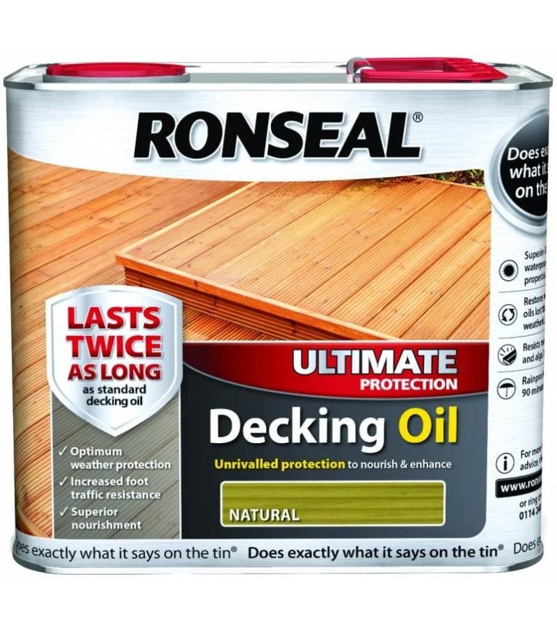 Ronseal Ultimate Decking Oil 2.5L Natural