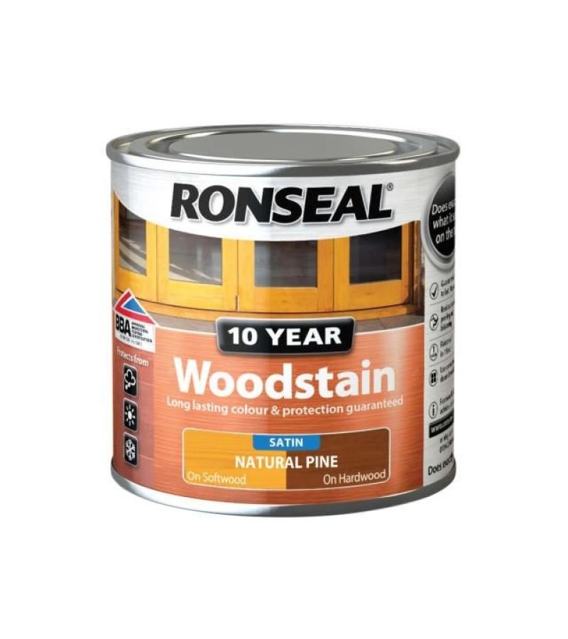 Ronseal 10 Year Woodstain Natural Pine Satin 250ml