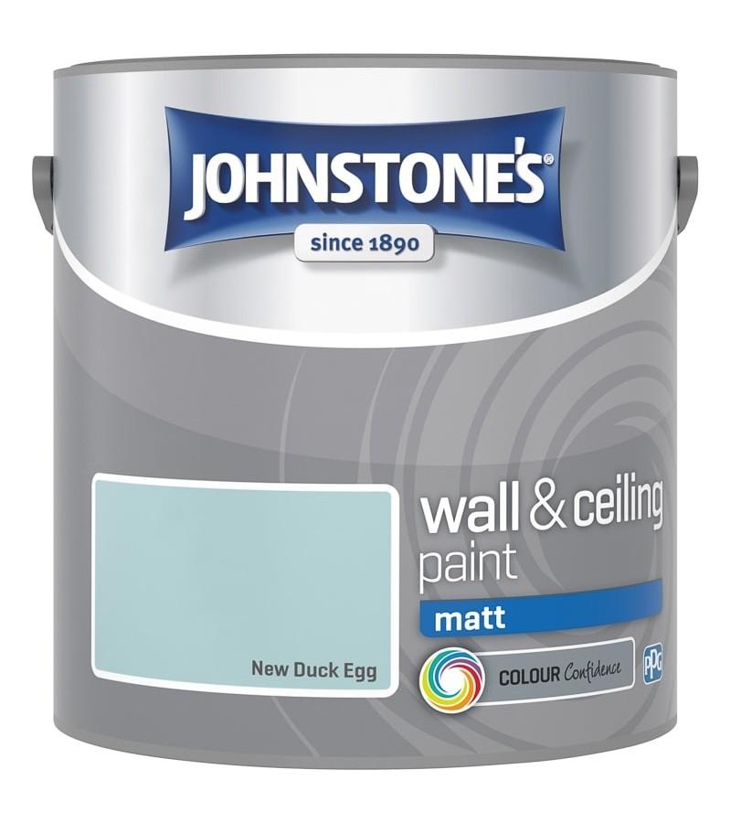 Johnstones Vinyl Emulsion Paint 2.5L New Duck Egg (Matt)
