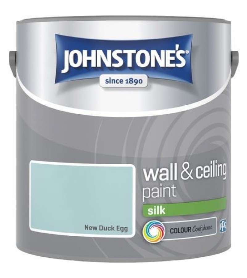 Johnstones Vinyl Emulsion Paint 2.5L New Duck Egg Silk