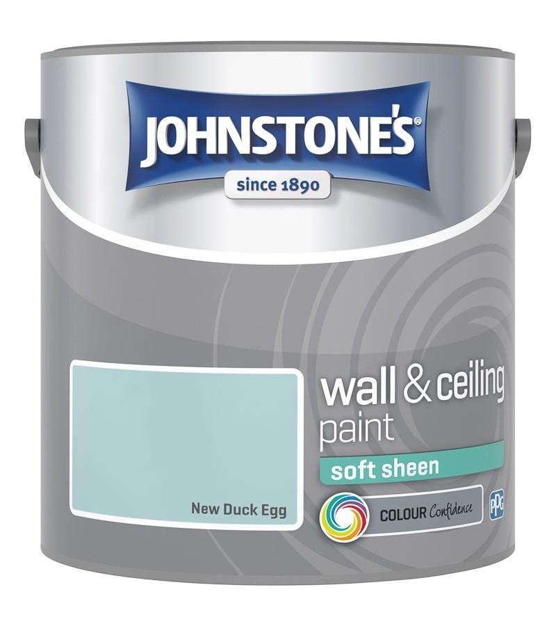 Johnstones Vinyl Emulsion Paint 2.5L New Duck Egg (Soft Sheen)