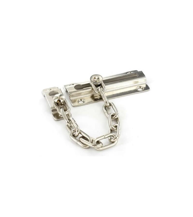 Securit S1625 Nickel Plated Steel Door Chain 80mm