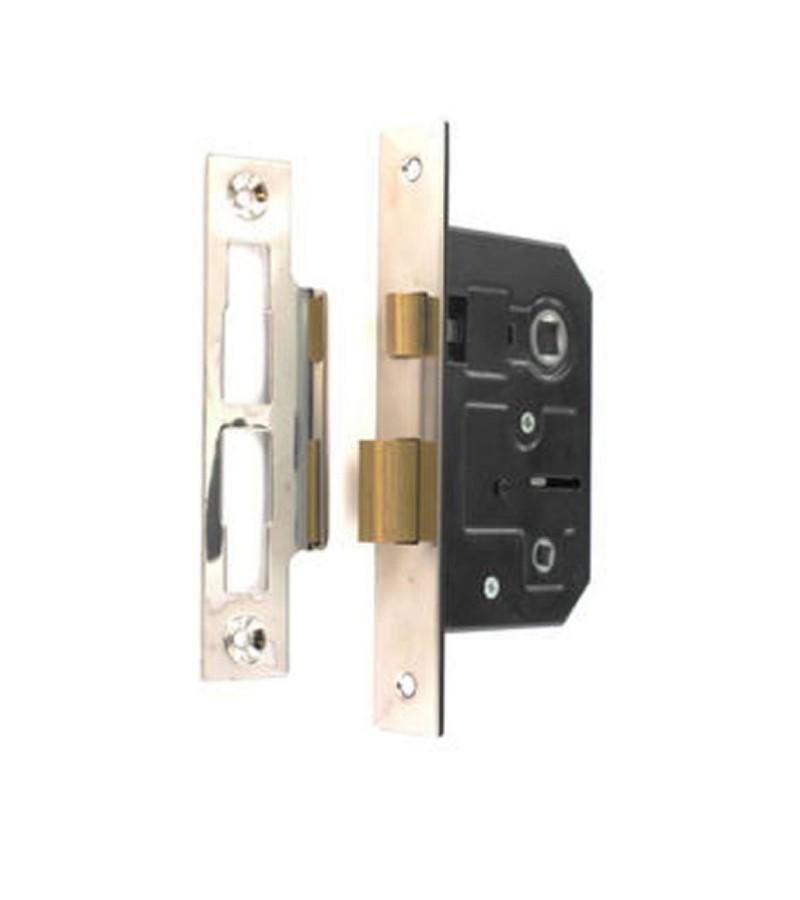 Securit S1836 Bathroom Lock 63mm Nickel Plated