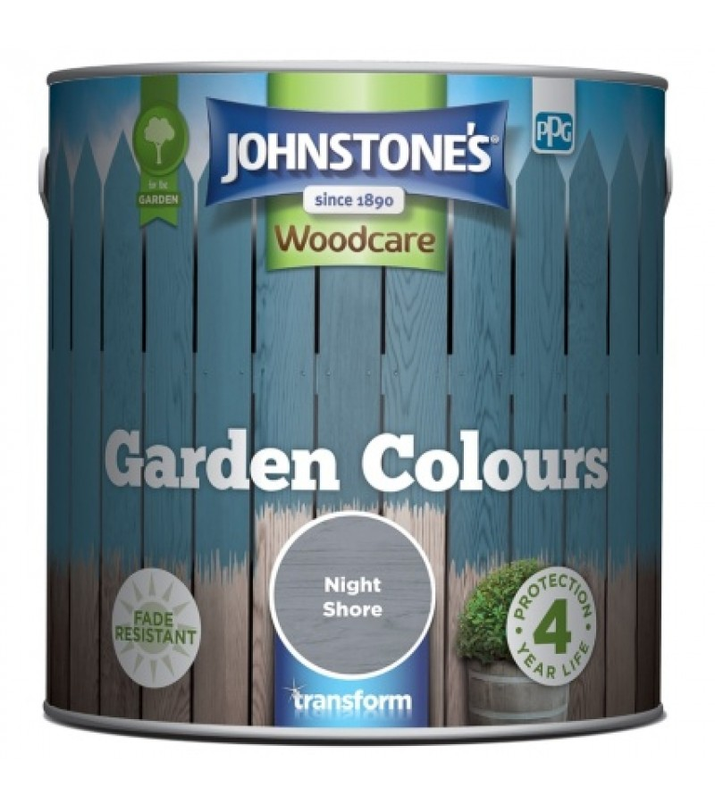 Johnstones Garden Colours Paint 1L Night Shore