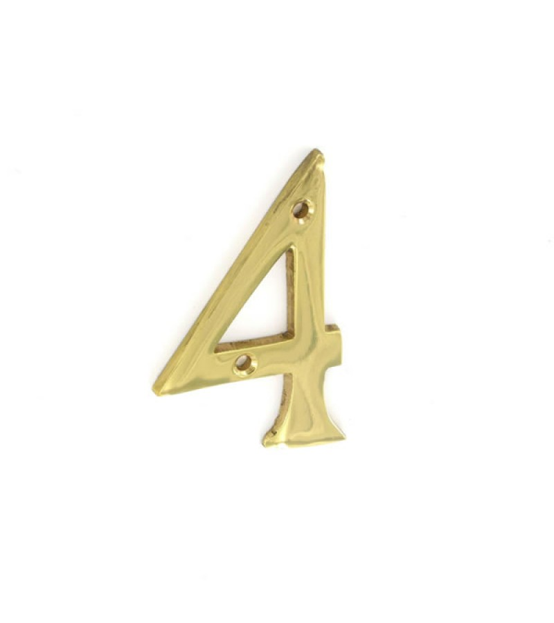 Securit S2504 75mm Numeral No.4 (Brass)