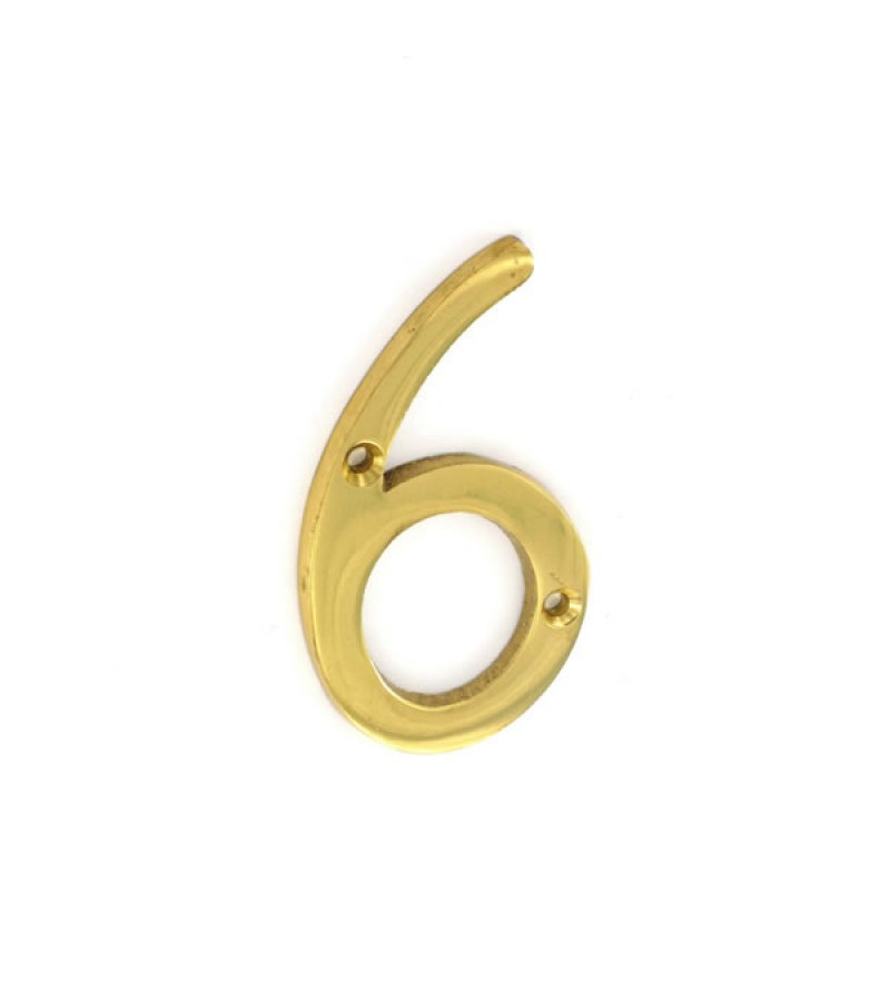 Securit S2506 75mm Numeral No.6 (Brass)