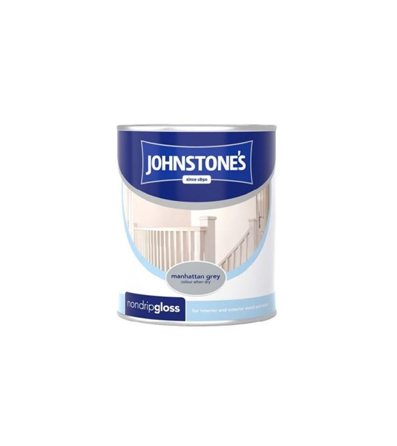 Johnstones Non Drip Gloss Paint 750ml Manhattan Grey