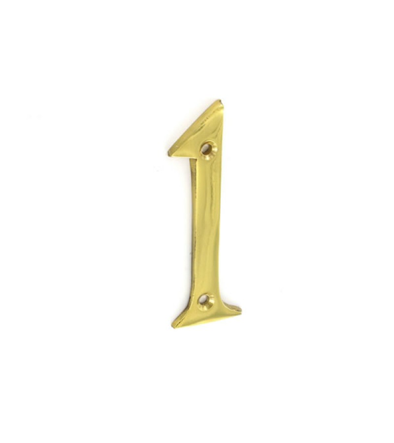 Securit S2501 75mm Numeral No.1 (Brass)