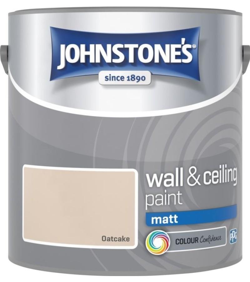 Johnstones Vinyl Emulsion Paint 2.5L Oatcake (Matt)