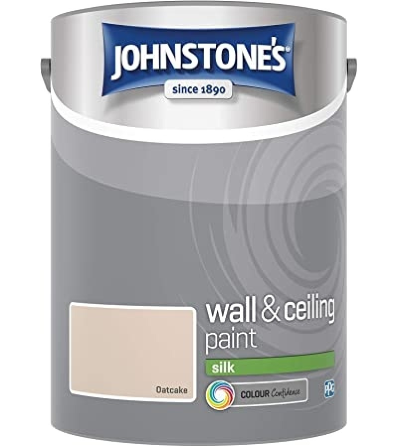 Johnstones Vinyl Emulsion Paint 5L Oatcake Silk