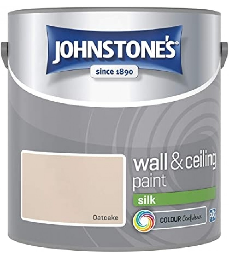 Johnstones Vinyl Emulsion Paint 2.5L Oatcake Silk