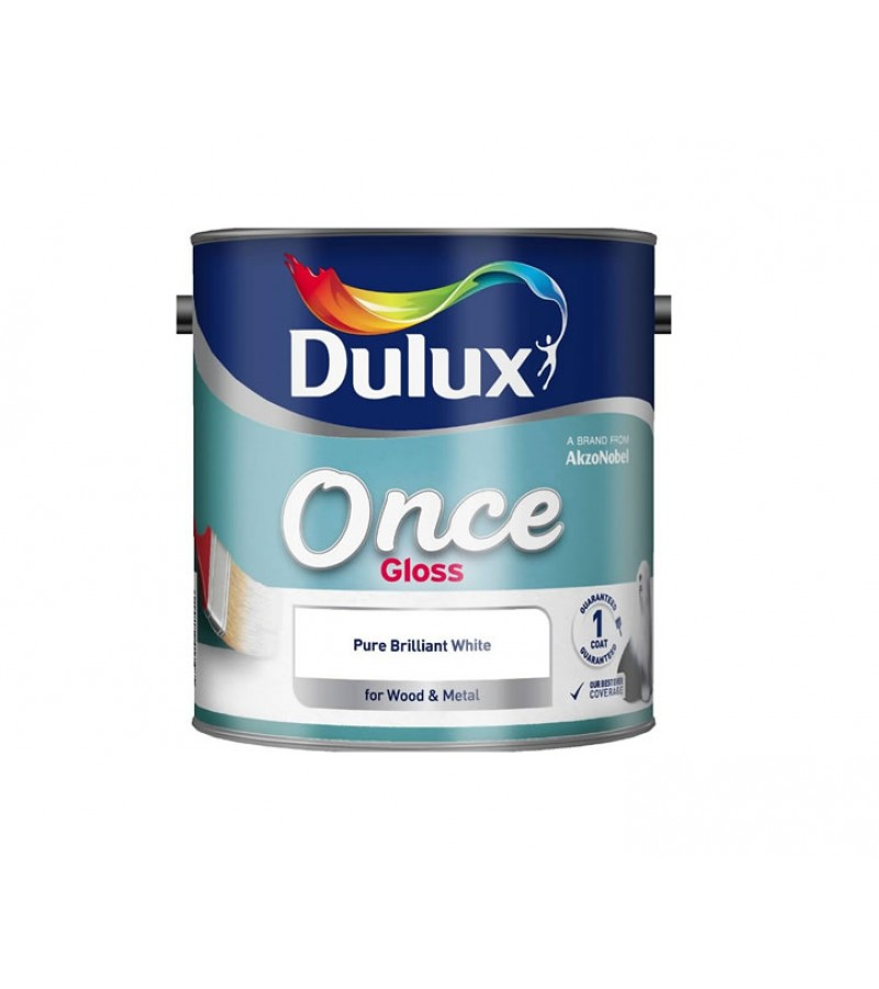 Dulux Once Gloss Paint 2.5L Pure Brilliant White