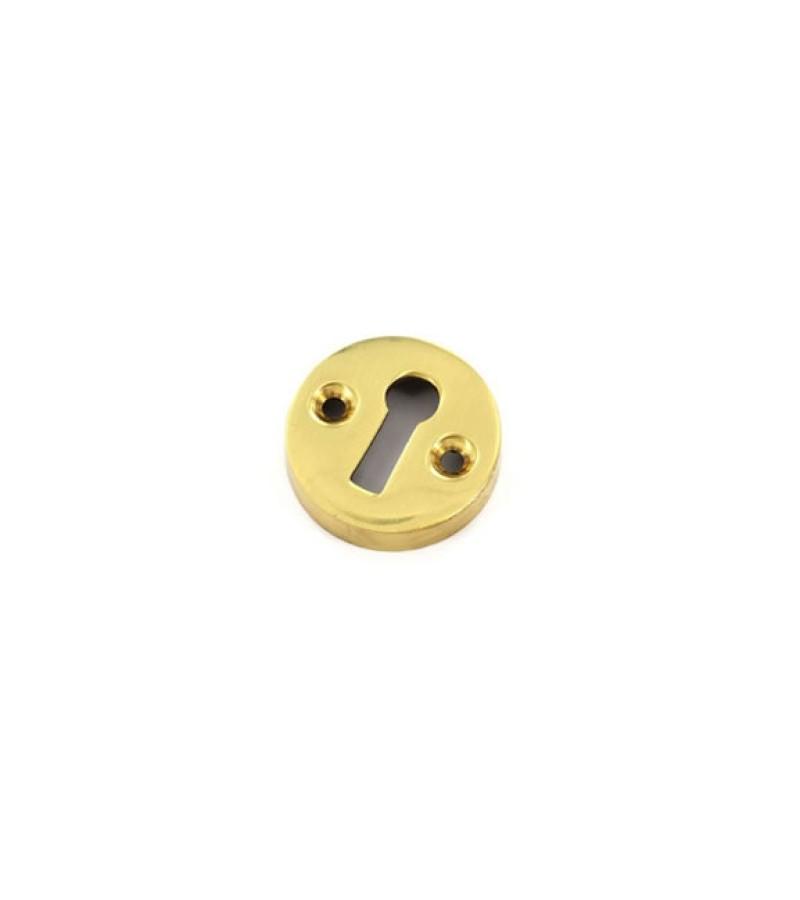 Securit S2261 35mm Victorian Escutcheon Open (Brass)