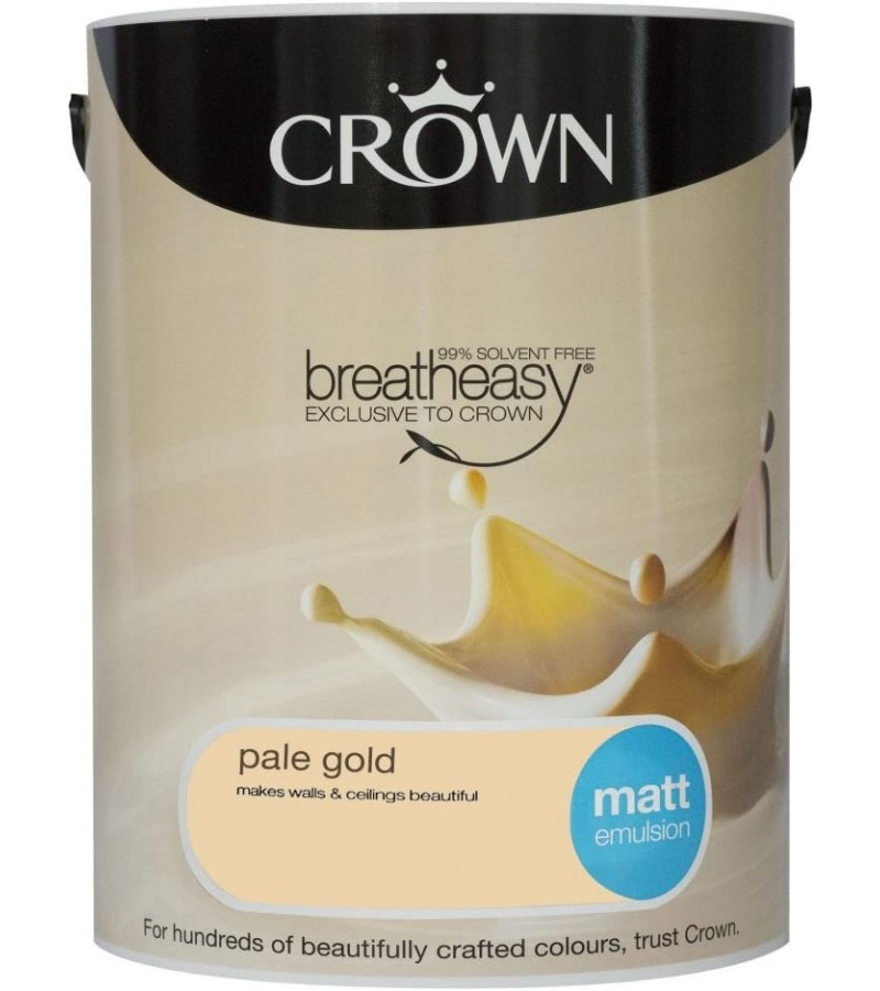 Crown Emulsion Paint 5L Pale Gold Matt