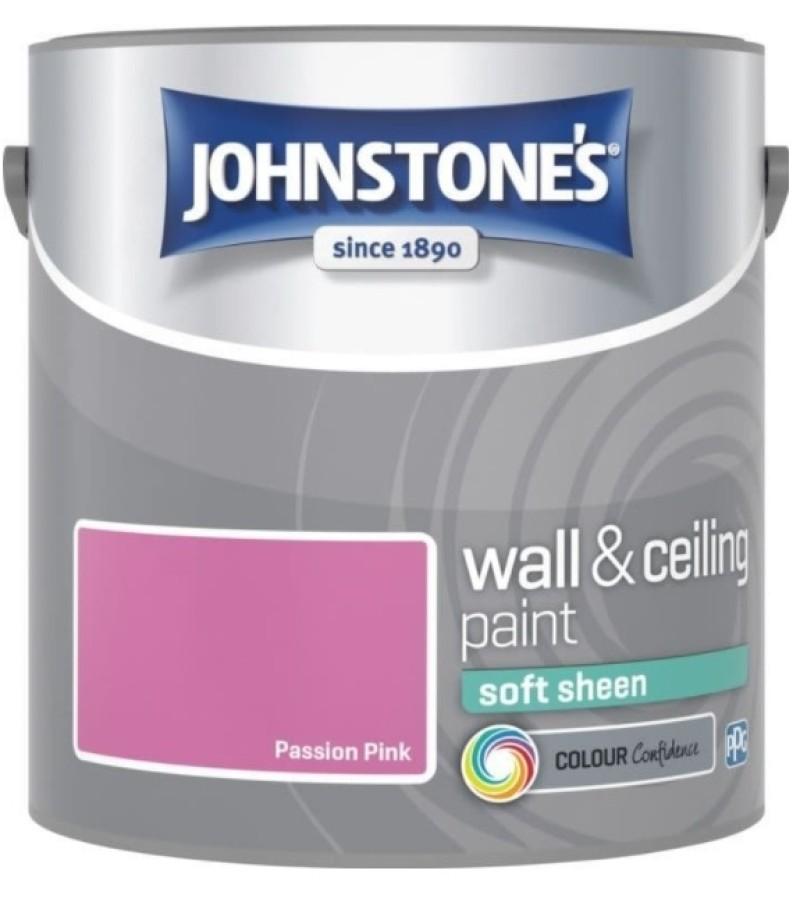 Johnstones Vinyl Emulsion Paint 2.5L Passion Pink Soft Sheen