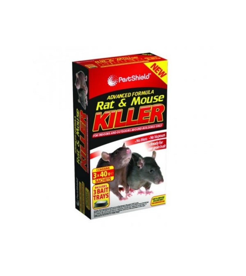 Pest Shield Rat & Mouse Killer (3 x 40g sachets)