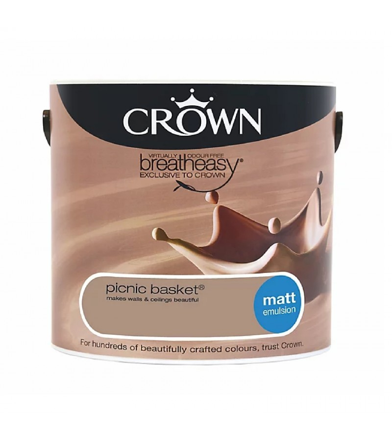 Crown Emulsion Paint 2.5L Picnic Basket Matt