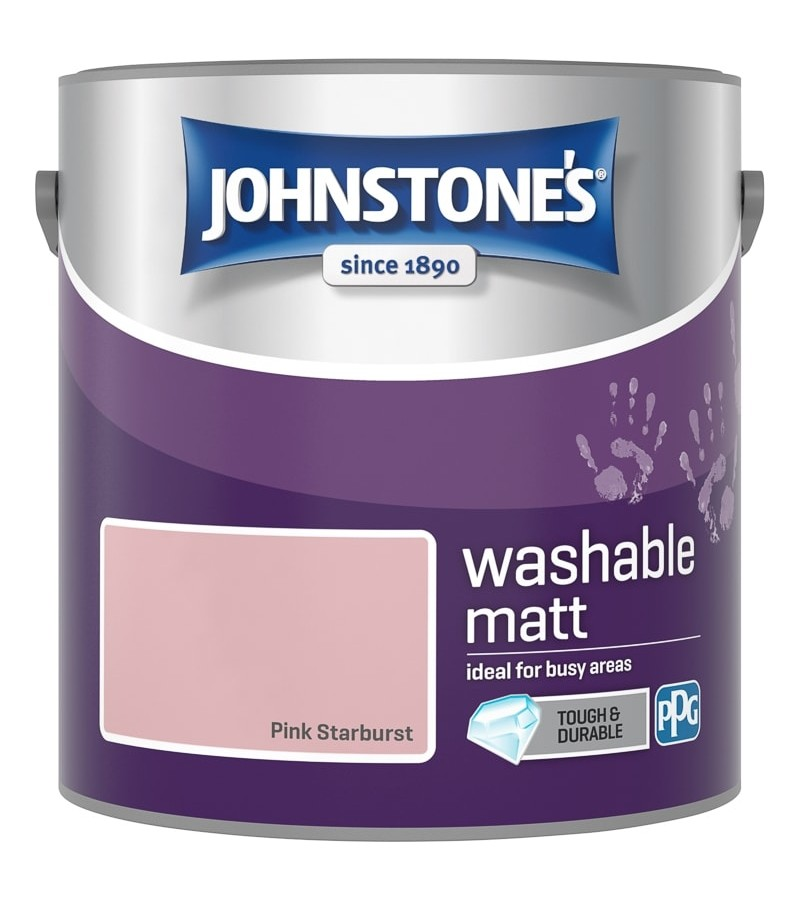 Johnstones Washable Emulsion Paint 2.5L Pink Starburst Matt