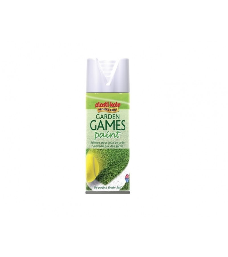 PlastiKote Garden Games Spray Paint 400ml White