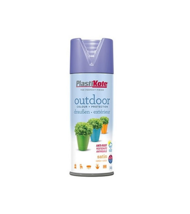 PlastiKote Outdoor Spray Paint 400ml Blue Lilac Satin