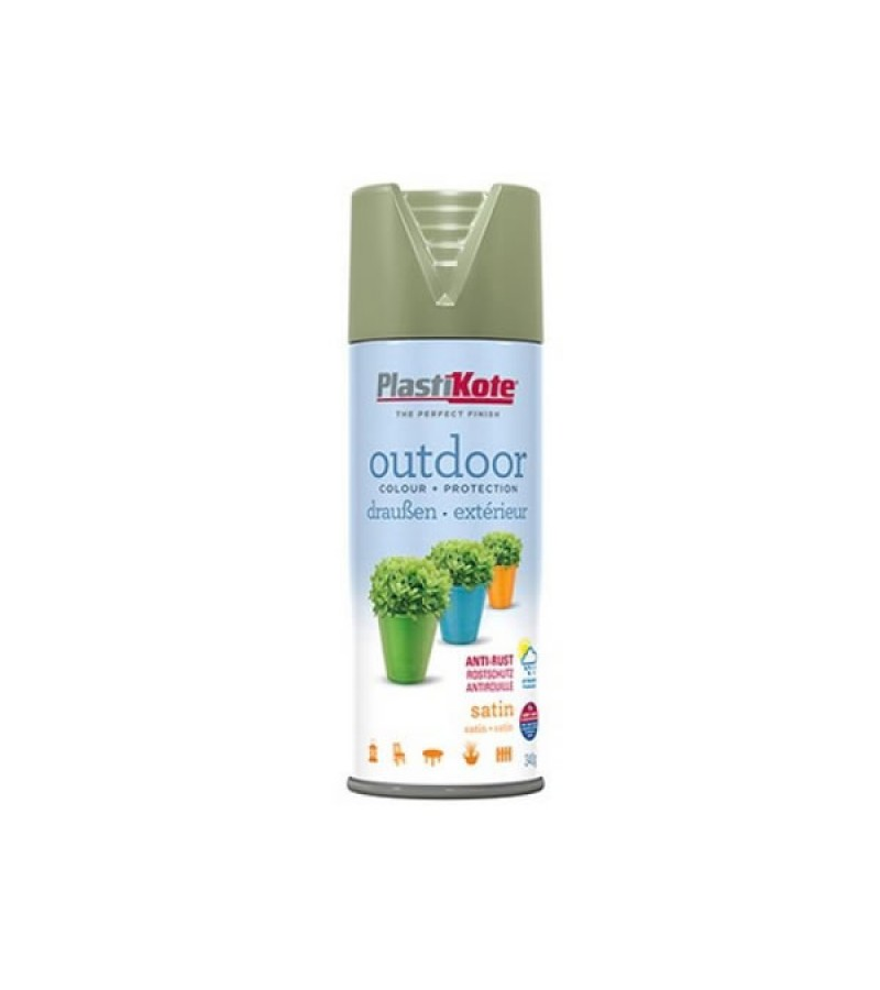 PlastiKote Outdoor Spray Paint 400ml Everglade Satin