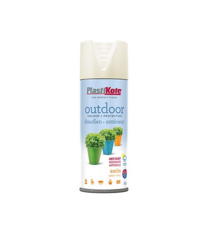 PlastiKote Outdoor Spray Paint 400ml Vanilla Satin