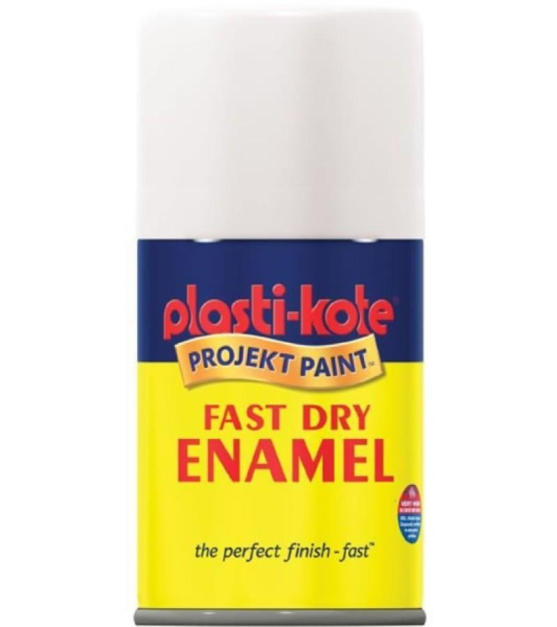 PlastiKote Spray Paint 100ml White Gloss