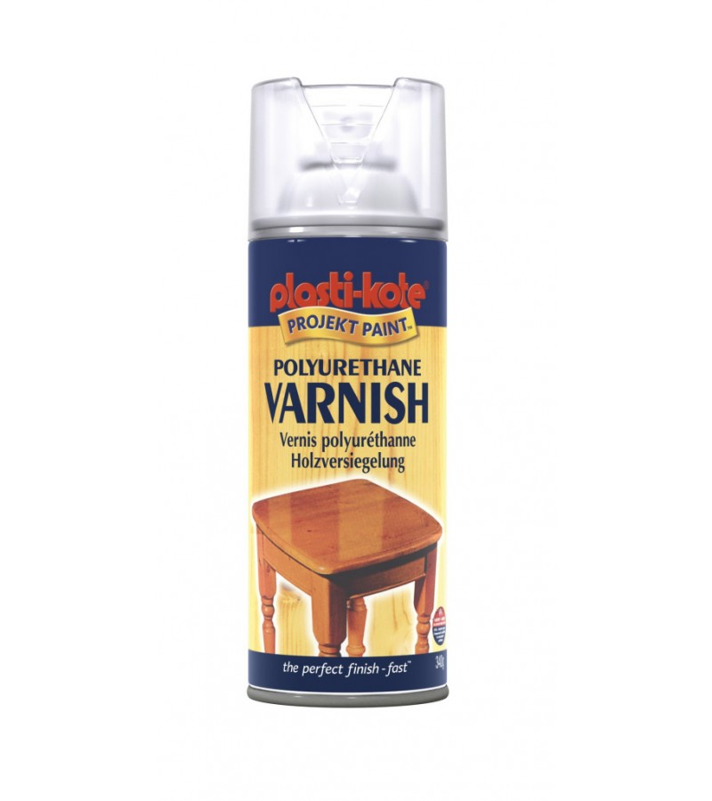 PlastiKote Polyurethane Varnish Spray 400ml Clear Satin