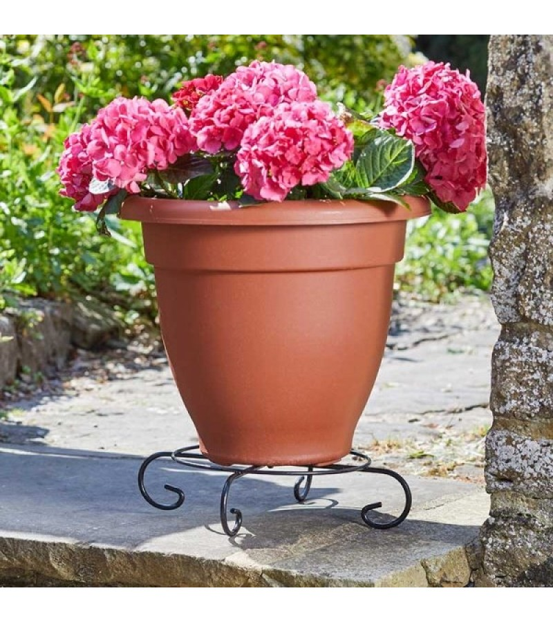 Flower Pot Stand 25cm Black