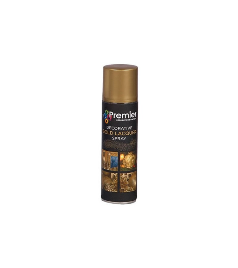 Premier Lacquer Spray 150ml Gold