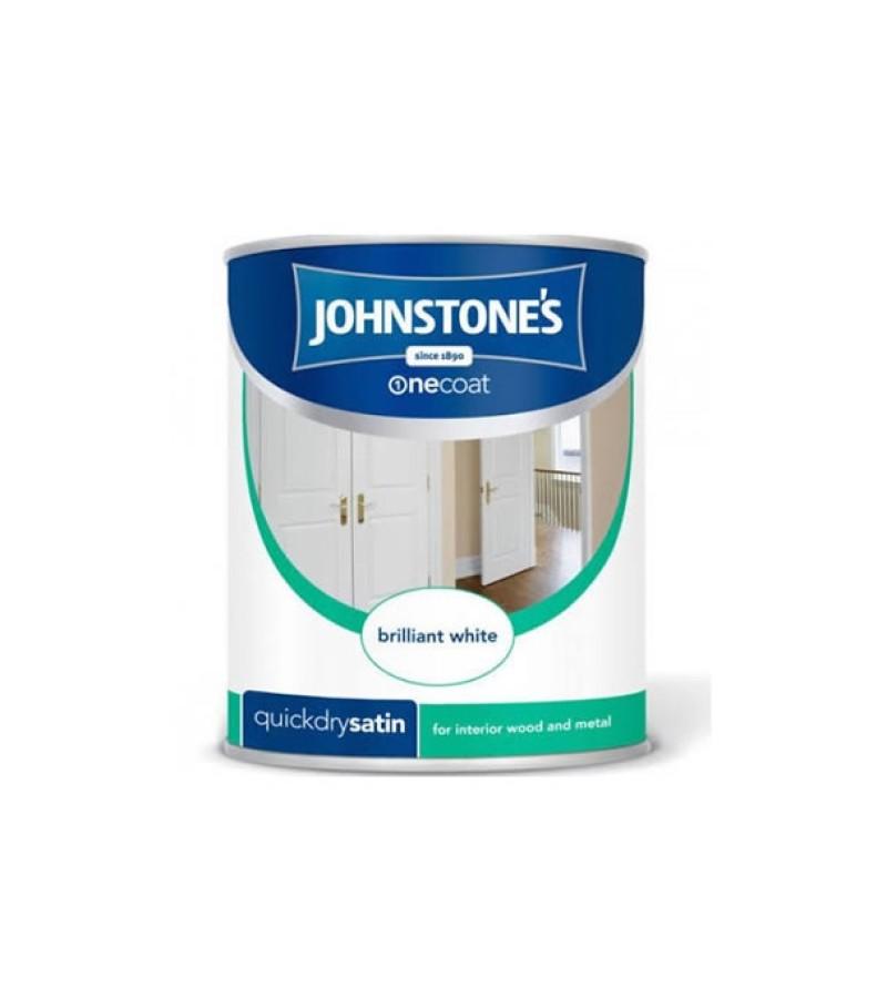 Johnstones One Coat Satin Paint 2.5L Brilliant White