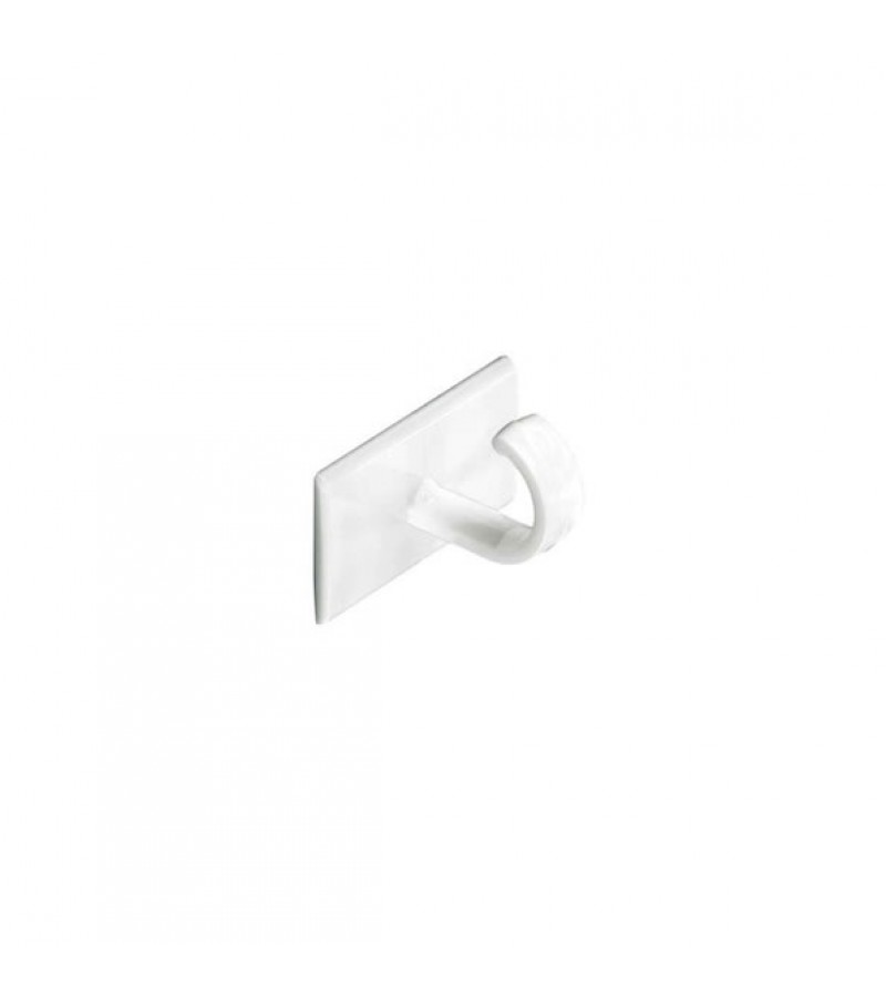 Securit S6350 Self Adhesive Cup Hooks White (4 Pack)