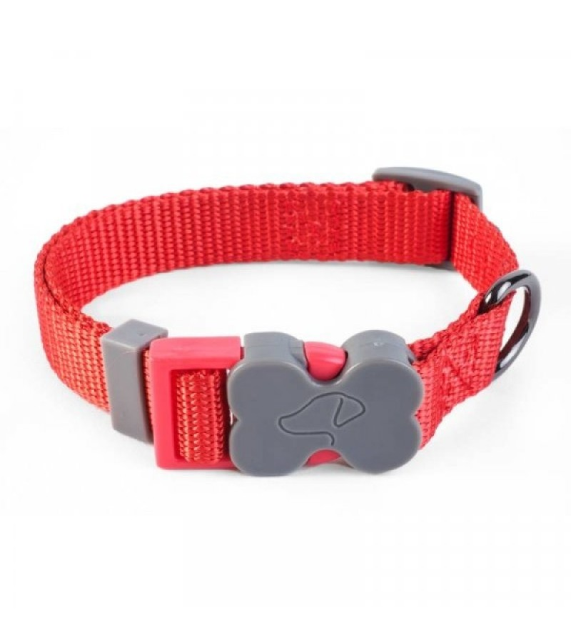 S (23cm-36cm) WalkAbout Dog Collar - Red