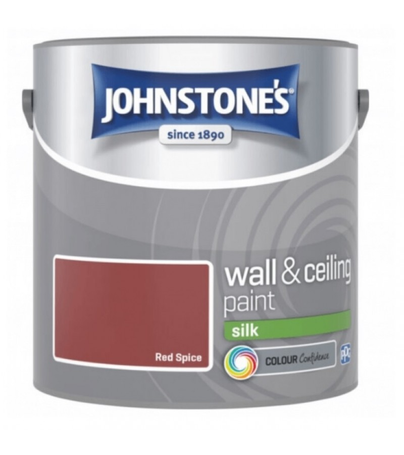 Johnstones Vinyl Emulsion Paint 2.5L Red Spice Silk