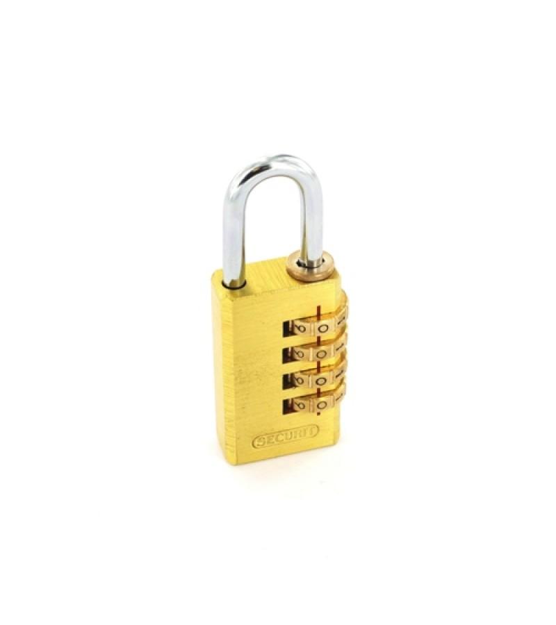 Securit S1196 Resettable Code Lock 30mm Brass