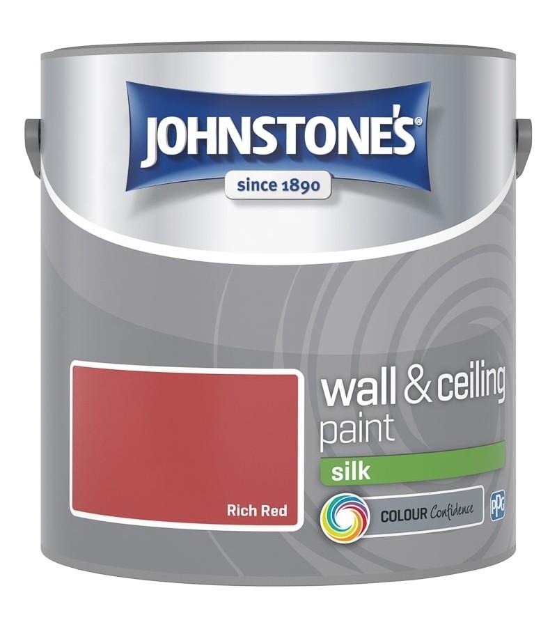 Johnstones Vinyl Emulsion Paint 2.5L Rich Red Silk