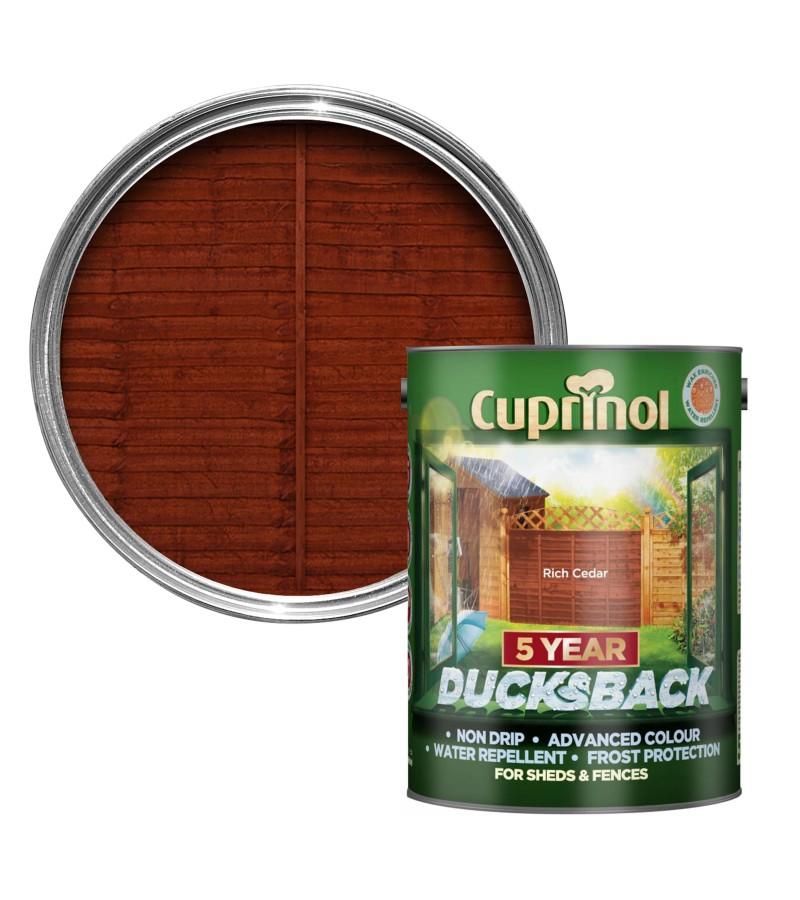 Cuprinol 5 Year Ducksback 5L Rich Cedar