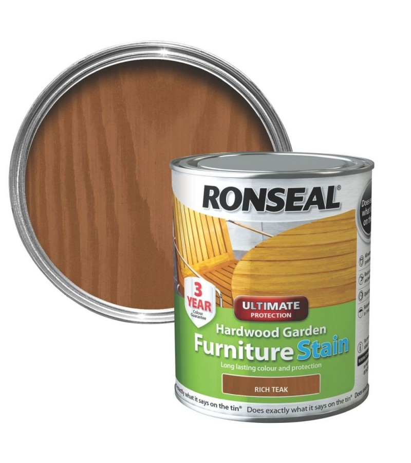 Ronseal Hardwood Furniture Stain 750ml Rich Teak
