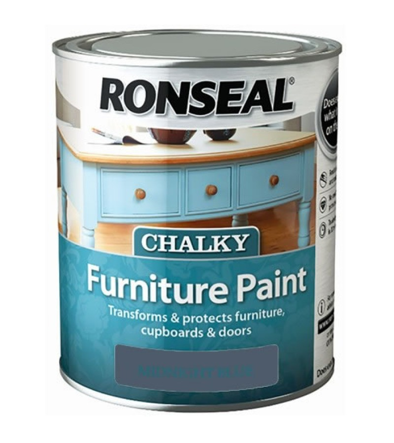 Ronseal Chalky Furniture Paint 750ml Midnight Blue