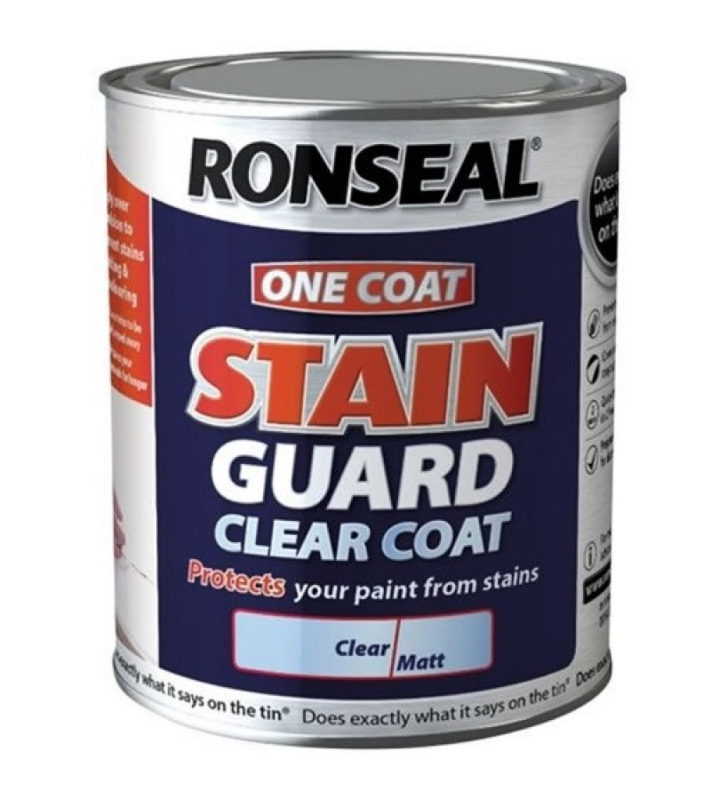 Ronseal One Coat Stain Guard 750ml Clear Matt